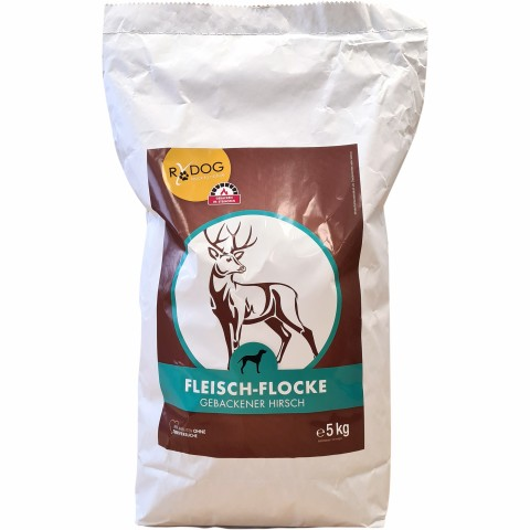 Meat-flakes venison (Fleisch-Flocke Hirsch) 5kg (1 Piece)